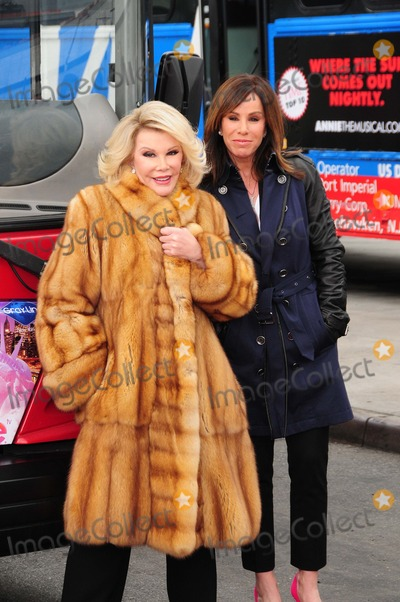 Joan Rivers Photo - Joan Rivers Melissa Rivers Pier 78 NY 3-1-2013 Photo by - Ken Babolcsay IpolGlobe Photos