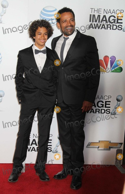 Mandela Van Peebles Photo - 44th Naacp Image Awards - Arrivals Shrine Auditorium Los Angeles CA 02012013 Mario Van Peebles and Son Mandela Van Peebles Photo Clinton H Wallace-photomundo-Globe Photos Inc