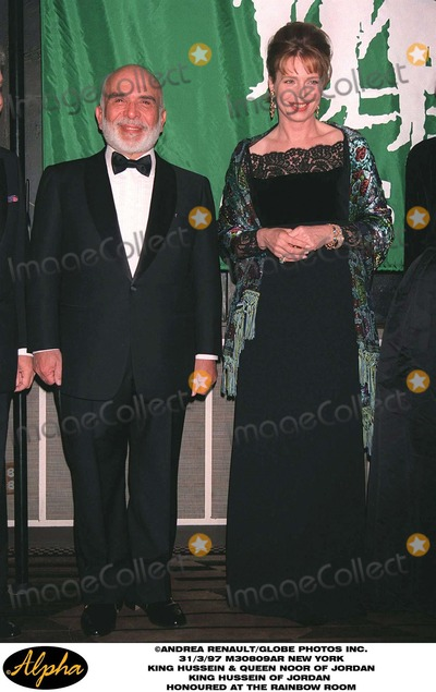 King Queen Photo - 397 New York King Hussein  Queen Noor of Jordan the King Hussein of Jordan Honoured at the Rainbow Room