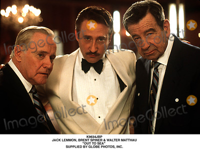 Walter Matthau Photo - Jack Lemmon Brent Spiner  Walter Matthau Out to Sea Supplied by Globe Photos Inc