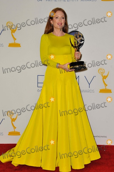 Julianne Moore Photo - Julianne Moore attending the 64th Primetime Emmy Awards Press Room Held at the Nokia Theatre in Los Angeles California on September 23 2012 Photo by D Long- Globe Photos Inc
