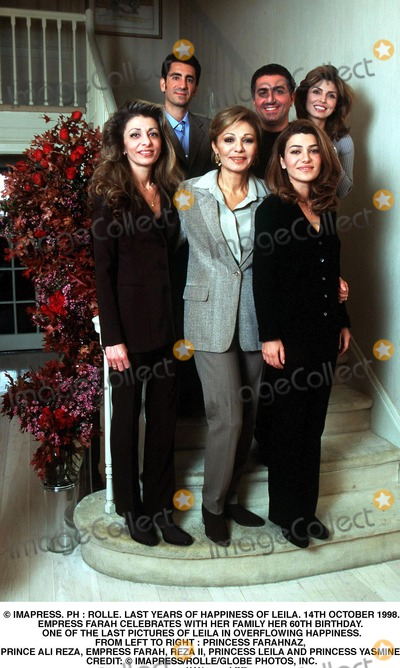Prince Ali Photo - IMAPRESS PH  ROLLELAST YEARS OF HAPPINESS OF LEILA14TH OCTOBER 1998EMPRESS FARAH CELEBRATES WITH HER FAMILY HER 60TH BIRTHDAY ONE OF THE LAST PICTURES OF LEILA IN OVERFLOWING HAPPINESSFROM LEFT TO RIGHT  PRINCESS FARAHNAZ PRINCE ALI REZA EMPRESS FARAH REZA II PRINCESS LEILA AND PRINCESS YASMINECREDIT  IMAPRESSROLLEGLOBE PHOTOS INC