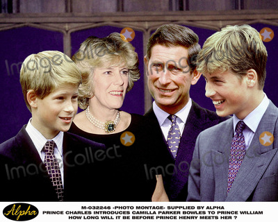 Camilla Parker Bowles Photo - Photomontage Prince Charles Introduces Camilla Parker Bowles to Prince William  How Long Will It Be Before Prince Henry Meets Her