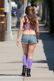 Photos From Playboy TV Host Erika Jordan spotted in Tiny Shorts