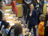 Photos From United Nations ceremony to name the character WONDER WOMAN as the Honorary Ambassador for the Empowerment of Woman and Girls