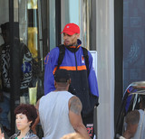 Photos From Chris Brown is seen in Cannes, Franc