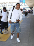 Photos From Nelly is seen at LAX Airport in Los Angeles, CA