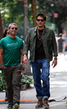 John Mayer Photo - September 16 2012 New York CityMasician John Mayer and TV personality Andy Cohen (L) walk together in the Village on September 16 2012 in New York City