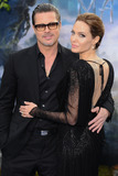 Brad Pitt,Angelina Jolie Photos - Brad Pitt and Angelina Jolie arrives for the Maleficent costume display opening at Kensington Palace London 08052014 Picture by Steve Vas  Featureflash