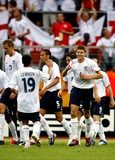 Aaron Lennon Photo - Aaron Lennon  Steven Gerrard Celebrate 2nd Goal England V Trinidad  Tobago Photo Allstar  Globe Photos Inc