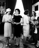 Jacqueline Kennedy Onassis Photo - Mrs Alan Shepard and Jacqueline Kennedy at the White House For a Reception For Alan Shepard Washington DC 1961 Larry StevensGlobe Photos Inc Jacquelinekennedyonassisobit