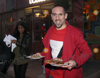 Bayern Munich Photo - Franck Ribery mit Frau attending the FC Bayern Munich WeihnachtsfeierChristmas Party at the Theatro of Alfons_Schuhbeck in Munich 08122013Credit Nickelsface to face