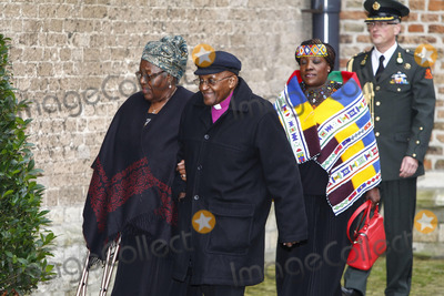 Desmond Tutu Photo - Nomalizo Leah Shenxane en aartsbisschop Desmond Tutu attending memorial service for Prince Friso in the Oude Kerk (Old Church) in Delft 02112013Credit BuysPPEface to face- No Rights for Netherlands -