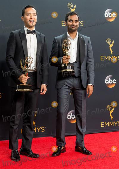 Aziz Ansari Photo - 18 September 2016 - Los Angeles California - Alan Yang Aziz Ansari 68th Annual Primetime Emmy Awards held at Microsoft Theater Photo Credit AdMedia