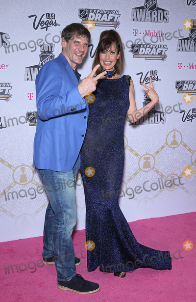Alexi Yashin Photo - 21 June 2017 - Las Vegas Nevada - Alexi Yashin Carol Alt 2017 NHL Awards Magenta Carpet Arrivals at T-Mobile Arena Photo Credit MJTAdMedia