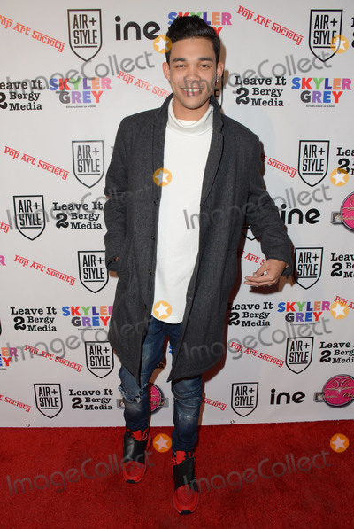 Skyler Grey Photo - 11 February  - Hollywood Ca - Roshon Fegan Arrivals for the Pop Societys Flashy Solo Art Exhibition by 16 year old Skyler Grey held at 6363 Hollywood Blvd Photo Credit Birdie ThompsonAdMedia