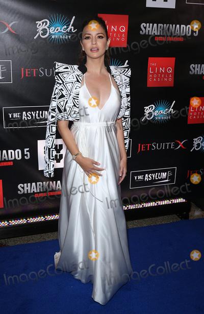 Masiela Lusha Photo - 06 August 2017 - Las Vegas NV - Masiela Lusha  Sharknado 5 Global Swarming red carpet premiere at Linq Hotel and Casino Photo Credit MJTAdMedia