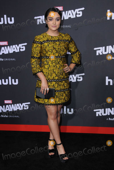 Ariela Barer Photo - 16 November  2017 - Westwood California - Ariela Barer Premiere Of Hulus Marvels Runaways held at Regency Village Theater in Westwood Photo Credit Birdie ThompsonAdMedia
