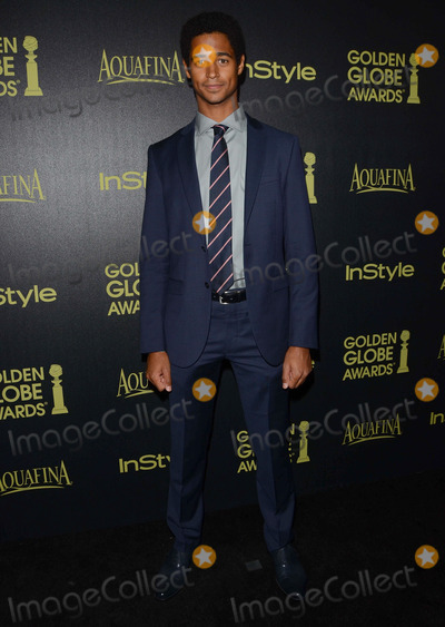 Alfred Enoch Photo - 20 November 2014 - Los Angeles California - Alfred Enoch Arrivals for HFPAInStyles Miss Golden Globes Announcement Party held at Fig  Olive in Los Angeles Ca Photo Credit Birdie ThompsonAdMedia