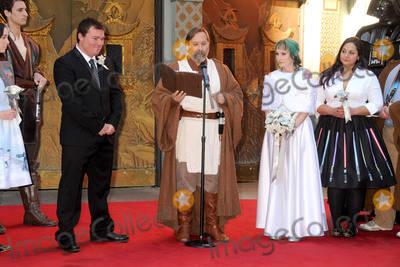 Andrew Porters Photo - 17 December 2015 - Hollywood California - Caroline Ritter Shawn Crosby Andrew Porters Fans Get Married With Star Wars Themed Wedding held at the TCL Chinese Theatre IMAX Photo Credit Byron PurvisAdMedia
