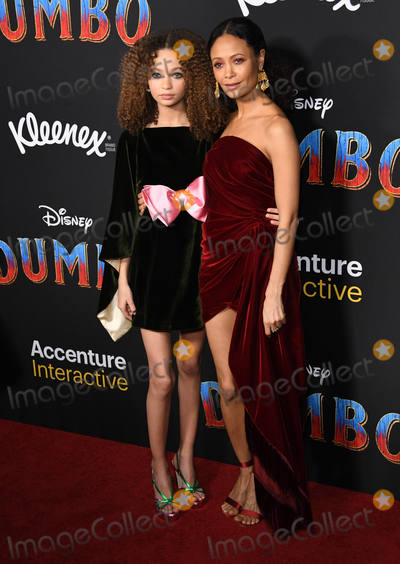 Nico Paker Photo - 11 March 2019 - Hollywood California - Nico Paker Thandie Newton Dumbo Los Angeles Premiere held at Ray Dolby Ballroom Photo Credit Birdie ThompsonAdMedia