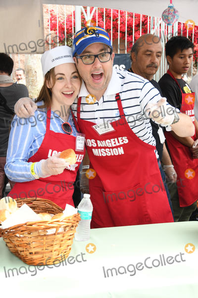 Brittany Curran Photo - 19 April 2019 - Los Angeles California - Brittany Curran PJ Byrne The Los Angeles Mission Hosts Easter For The Homeless held at the LA Mission Photo Credit Birdie ThompsonAdMedia