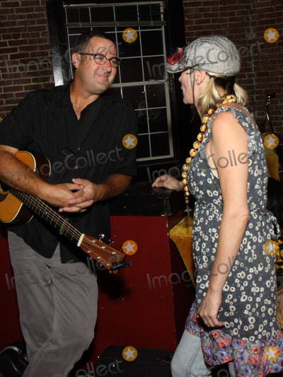 Bekka Bramlett Photo - July 26 2011 - Nashville TN - Vince Gill and Bekka Bramlett chat backstage Artists musicians and songwriters came together at Mercy Lounge to help raise funds for Pete Huttlinger a widely respected guitarist and Nashville studio artist  Huttlinger has a congenital heart disease and is in need of a heart transplant Photo credit Dan HarrAdmedia