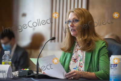Executive Director Photo - Shannon Angielski Executive Director Carbon Utilization Research Council appears during a Senate Committee on Energy and Natural Resources hearing to examine the development and deployment of large-scale carbon dioxide management technologies in the United States including technological and natural carbon removal carbon utilization and carbon storage in the Dirksen Senate Office Building on Capitol Hill in Washington DC Tuesday July 28 2020 Credit Rod Lamkey  CNPAdMedia