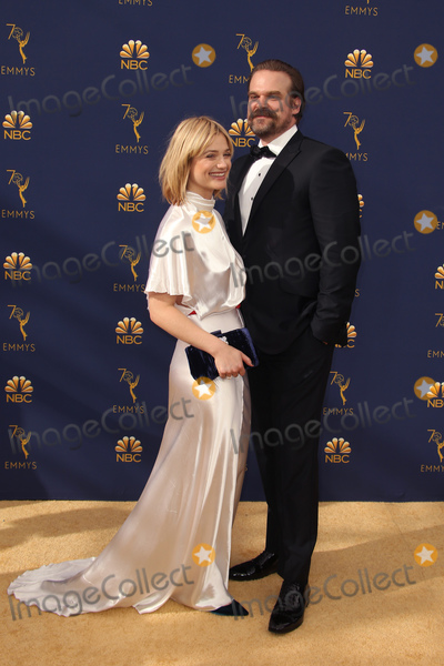 Alison Sudol Photo - 17 September 2018 - Los Angles California - Alison Sudol and David Harbour 70th Primetime Emmy Awards held at Microsoft Theater LA LIVE Photo Credit Faye SadouAdMedia