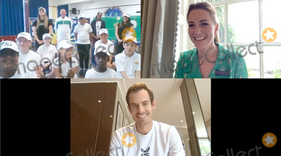 Andy Murray Photo - Photo Must Be Credited Alpha Press 073074 10072020Kate Duchess of Cambridge Catherine Katherine Middleton Patron of the All England Lawn Tennis and Croquet Club (AELTC) has spoken to students from Bond Primary School in Mitcham via video call ahead of what would have been the final weekend of The Championships Wimbledon During the call Her Royal Highness was joined by surprise guest former Wimbledon Champion Andy Murray No UK Rights Until 28 Days from Picture Shot Date AdMedia