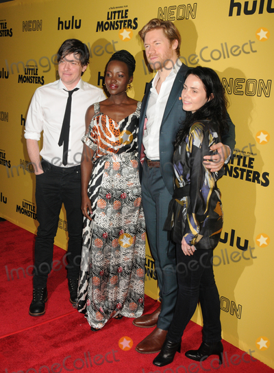Alexander England Photo - 08 October 2019 - New York New York - Abe Forsythe Lupita Nyongo Alexander England and Jodi Matterson Little Monsters New York Premiere held at AMC Lincoln Square Theater Photo Credit AdMedia