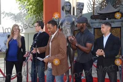 Aldis Hodge Photo - 26 January  - Hollywood Ca - Alwyn Hight Kusnher Jason George Woody Schuktz Aldis Hodge Neil Brown Jr SAG Awards Actor visits Hollywoods TCL Chinese Theater with SAG Awards nominees Aldis Hodge and Neil Brown Jr held at TCL Chinese Theater  Photo Credit Birdie ThompsonAdMedia