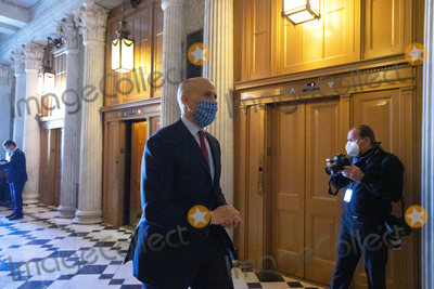 Booker Photo - United States Senator Cory Booker (Democrat of New Jersey) walks to the Senate Floor at the United States Capitol in Washington DC US on Wednesday May 13 2020  Credit Stefani Reynolds  CNPAdMedia