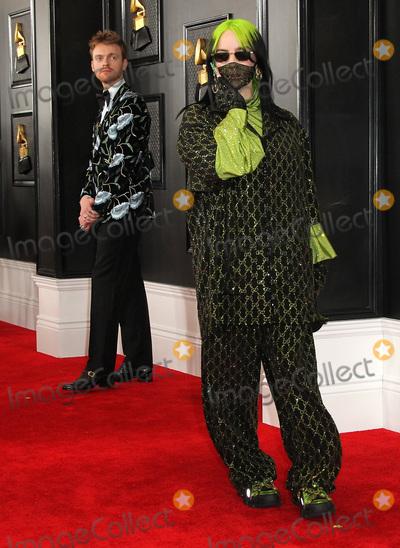 Grammy Awards Photo - 26 January 2020 - Los Angeles California - Finneas OConnell Billie Eilish 62nd Annual GRAMMY Awards held at Staples Center Photo Credit AdMedia