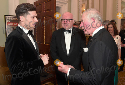 Wale Photo - 12032020 - Prince Charles Prince of Wales meets guests with the High Commissioner for Australia George Brandis (R) as they attend a dinner in aid of the Australian bushfire relief and recovery effort at Mansion House in London Photo Credit ALPRAdMedia