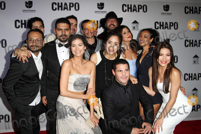 Alejandro Aguilar Photo - 19 April 2017 - Los Angeles California - Alejandro Aguilar Abril Schreiber Juan Carlos Olivas Rodrigo Abed Marco De La O and Juliette Pardau Univisions El Chapo Original Series Premiere Event held at The Landmark Theatre Photo Credit AdMedia