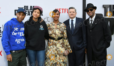Helen Lasichanh Photo - 03 June 2019 - Los Angeles California - Pharrell Williams Helen Lasichanh Nicole Avant Ted Sarandos Jimmy Jam Netflixs The Black Godfather Los Angeles Premiere held at Paramount Theater Photo Credit Birdie ThompsonAdMedia