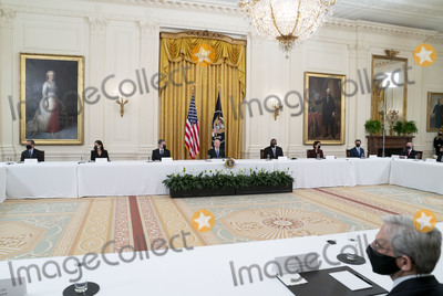 Antony Blinken Photo - United States President Joe Biden holds a Cabinet Meeting in the East Room of the White House in Washington DC on Thursday April 1 2021  President Biden announced that he is asking five cabinet members to explain his jobs plan to the American public  From left to right US Secretary of Health and Human Services Xavier Becerra US Secretary of the Interior Debra Haaland US Secretary of State Antony Blinken President Biden US Secretary of Defense Lloyd J Austin III US Secretary of Commerce Gina Raimondo US Secretary of Transportation Pete Buttigieg US Secretary of Homeland Security Alejandro Mayorkas and US Trade Representative (USTR) Katherine Tai  Pictured in the lower right foreground is US Attorney General Merrick GarlandCredit Leigh Vogel  Pool via CNPAdMedia