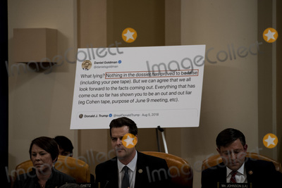 Alabama Photo - United States Representative Matt Gaetz (Republican of Florida) center speaks during a public impeachment inquiry hearing with the US House Judiciary Committee on Capitol Hill in Washington DC on December 9th 2019 At left is US Representative Martha Roby (Republican of Alabama) and at left is US Representative Mike Johnson (Republican of Louisiana)Credit Anna Moneymaker  Pool via CNPAdMedia