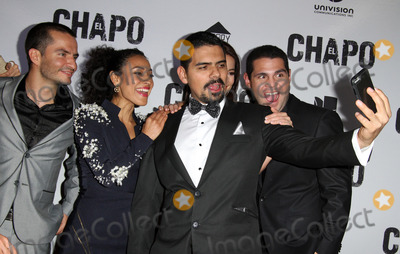 Alejandro Aguilar Photo - 19 April 2017 - Los Angeles California - Juan Carlos Olivas Tete Espinoza Alejandro Aguilar Juliette Pardau and Marco De La O Univisions El Chapo Original Series Premiere Event held at The Landmark Theatre Photo Credit AdMedia