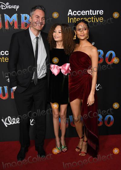 Nico Paker Photo - 11 March 2019 - Hollywood California - Ol Parker Nico Paker Thandie Newton Dumbo Los Angeles Premiere held at Ray Dolby Ballroom Photo Credit Birdie ThompsonAdMedia