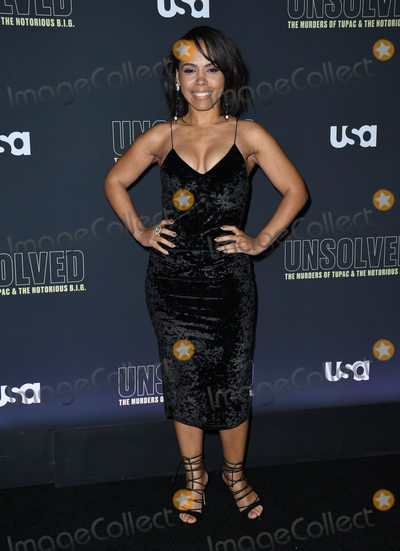 Amirah Vann Photo - 22 February 2018 - Hollywood California - Amirah Vann USA Networks Unsolved The Murders of Tupac  The Notorious BIG held at Avalon Hollywood Photo Credit Birdie ThompsonAdMedia