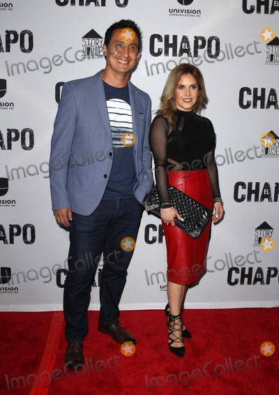 El Chapo Photo - 19 April 2017 - Los Angeles California - Erika Reyna and Guest Univisions El Chapo Original Series Premiere Event held at The Landmark Theatre Photo Credit AdMedia