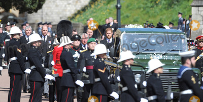 Prince Harry Photo - Photo Must Be Credited Alpha Press 073074 17042021Prince Charles Prince of Wales Prince William Duke of Cambridge Prince Harry Duke of Sussex and Vice-Admiral Sir Timothy Laurence follow Prince Philip Duke of Edinburghs coffin on a modified Jaguar Land Rover during the Ceremonial Procession during the funeral of Prince Philip Duke of Edinburgh at St Georges Chapel in Windsor Castle in Windsor Berkshire No UK Rights Until 28 Days from Picture Shot Date AdMedia