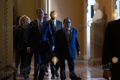 Adam Schiff Photo - United States Representative Adam Schiff (Democrat of California) and United States Representative Jerrold Nadler (Democrat of New York) along with other House Managers walk to the Senate Floor from the House side of the United States Capitol in Washington DC US on Thursday January 16 2020 to exhibit the articles of impeachment against United States President Donald J Trump  The Senate is scheduled to start the impeachment trial next week after House Managers officially delivered two articles of impeachment against United States President Donald J Trump to the Senate Floor on Wednesday January 15 2020 Credit Stefani Reynolds  CNPAdMedia