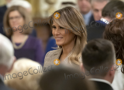 Keane Photo - First lady Melania Trump prepares to depart following the ceremony where United States President Donald J Trump presented the Presidential Medal of Freedom to US Army General John M Jack Keane (retired) in the East Room of the White House in Washington DC on Tuesday March 10 2020  Keane is a former Vice Chief of Staff of the US Army and is a Fox News national security analystCredit Ron Sachs  CNPAdMedia