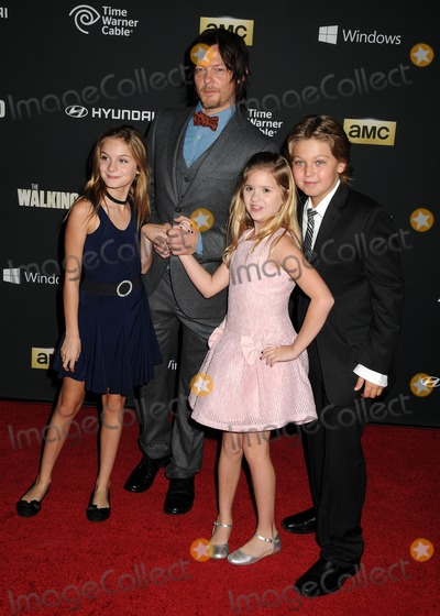 Kyla Kenedy Photo - 03 October 2013 - Universal City California - Brighton Sharbino Norman Reedus Kyla Kenedy The Walking Dead 4th Season Premiere held at the AMC Universal Citywalk Stadium 19 Theatre Photo Credit Byron PurvisAdMedia