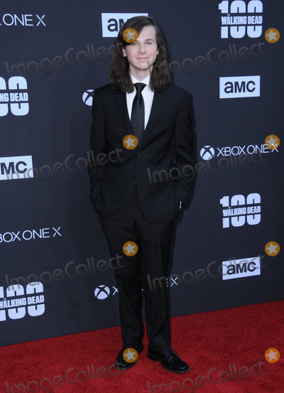 Chandler Riggs Photo - 22 October  2017 - Los Angeles California - Chandler Riggs AMC Celebrates the 100th Episode of The Walking Dead held at The Greek Theater in Los Angeles Photo Credit Birdie ThompsonAdMedia