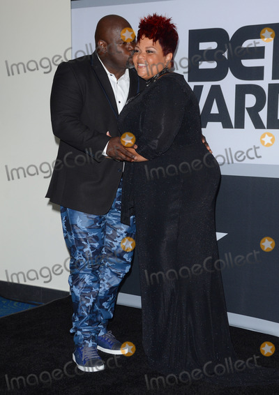 David Mann Photo - 29 June 2014 - Los Angeles California - Tamela J Mann David Mann Press Room for the 2014 BET AWARDS held at the Nokia Theater LA Live in Los Angeles Ca Photo Credit Birdie ThompsonAdMedia