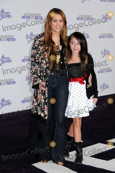 Noah Cyrus Photo - 8 February 2011 - Los Angeles California - Miley Cyrus and Noah Cyrus Justin Bieber Never Say Never Los Angeles Premiere held at Nokia Theater LA Live Photo Byron PurvisAdMedia